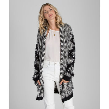 Billabong Women's Shoreline Drive Cardigan | Black/White | SALE
