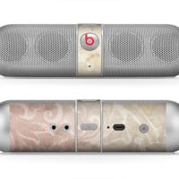The Tan Vintage Subtle Laced Texture Skin for the Beats by Dre Pill Bluetooth Speaker
