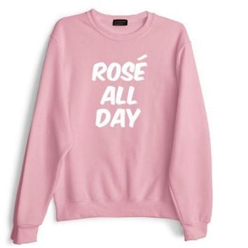 ESBIH3 [rose all day] letter sweater