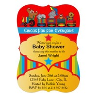Circus Fun Theme Baby Shower Invitation