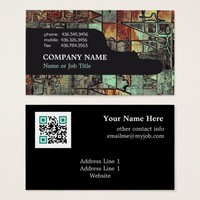 Corporate QR Code Professional Modern Abstract Business Card