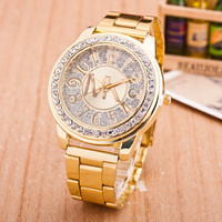 Fashion Alloy Watch Diamonds Quartz Watch (With Thanksgiving&Christmas Gift Box)[6407504452]