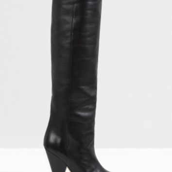 Boutique 1 - ISABEL MARANT - Black Laith Pointed High Thigh Boot | Boutique1.com