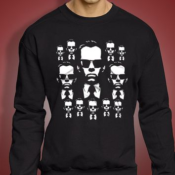 Cool Agent Smith Matrix Inspired Men'S Sweatshirt