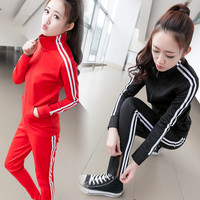 Sudaderas Mujer 2016 Spring Autumn Women Sport Suit Set Jogging Suits Patchwork Plus Size Tracksuit & Track Suit Tops+Pants