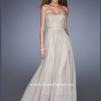 Strapless Sweetheart La Femme Formal Prom Gown 20447
