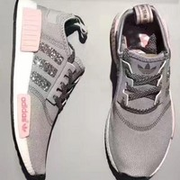 Adidas Nmd Individuality Sequins Fashion Trending Women Leisure Running Sports Shoes Grey G