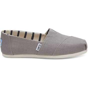 TOMS - Venice Collection Morning Dove Heritage Canvas Women's Classics Slip-Ons