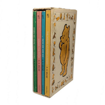 Vintage A Treasury of Winnie the Pooh Softcover Book Collection Set of Four Vintage Pooh Children's Books