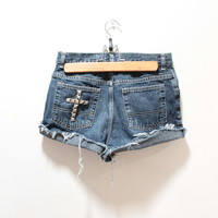Studded Cross High Waisted Denim | Vagabond Youth