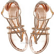 Rose Knows Gold Rhinestone Strappy Sandals