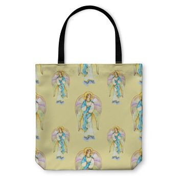 Tote Bag, Angels With Wings Pattern