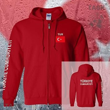 Turkey Turkish Turk TUR mens hoodies and sweatshirt new white jerseys polo sweat new streetwear tracksuit nations fleece zipper