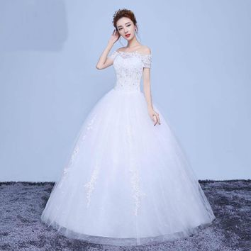 Ball Gown Tulle Wedding Dress with Sequined Bridal Dresses