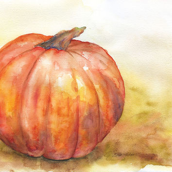 Pumpkin Watercolor