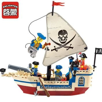Enlighten 304 Pirates Of The Caribbean Brick Bounty Pirate Ship Building Blocks toys
