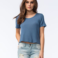 Full Tilt Oh So Easy Womens Tee Indigo  In Sizes