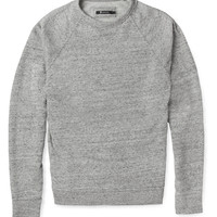 Alexander Wang Loopback Cotton-Blend Jersey Sweatshirt | MR PORTER
