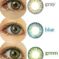 GEO Tri Color World Series colored contacts circle lenses | Eyecandy's