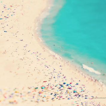 Beach photography, aerial beach photography, ocean print, people beach art, sea fine art print, Portugal, wall decor, home  decor, wall art