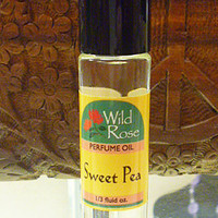 Wild Rose SWEET PEA Roll On Perfume Oil 1/3 oz. hippie perfume fragrance