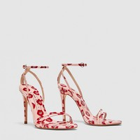 PRINTED HIGH HEEL SANDALS DETAILS