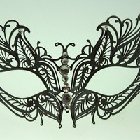 Sexy Butterfly Metal Laser Cut Mask Venetian Style by Kayso International Inc from Sophia's Galleria