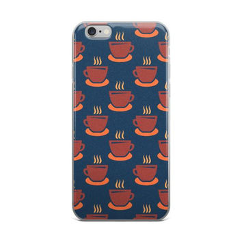 Coffee / Tea Cup Pattern iPhone Case