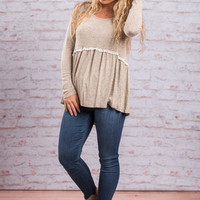 Piece Of Precious Top, Taupe