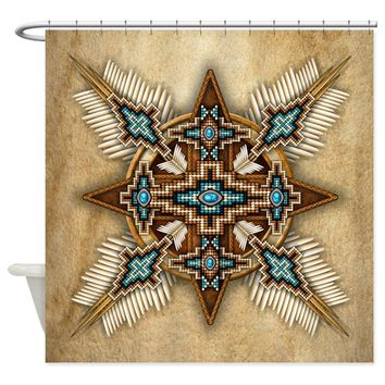Native American Decorative Bows Shower Curtains