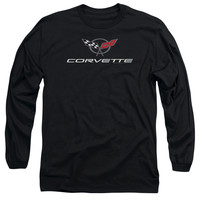 CHEVY/CORVETTE MODERN EMBLEM-L/S ADULT 18/1-BLACK