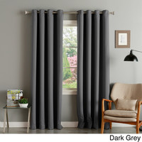 Lights Out Thermal Insulated Blackout Grommet Top 84-inch Curtain Panel Pair | Overstock.com Shopping - The Best Deals on Curtains
