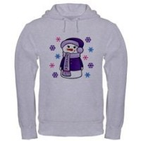 Guys - You make it rock! - Grandma Snowman Christmas Hooded Sweatshirt by CafePress