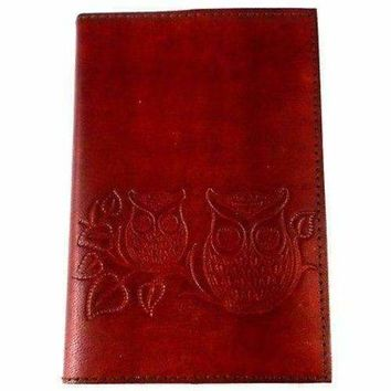 "Owls on a Twig"" Embossed Leather Journal - Matr Boomie"