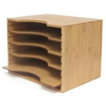 Bamboo File Organizer W4 Dvdrs