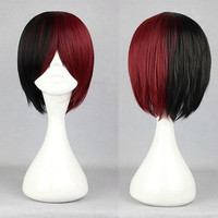 32cm Color Mixed MSN Lolita Wig Anime Cosplay Wig synthetic short wig,Colorful Candy Colored synthetic Hair Extension Hair piece 1pc WIG-318A