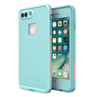 Lifeproof 77-56983 FRĒ SERIES Waterproof Case for iPhone 8 Plus & 7 Plus (ONLY) - Retail Packaging - WIPEOUT (BLUE TINT/FUSION CORAL/MANDALAY BAY)