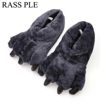 RASS PLE Cartoon Animal Paw Claw Slippers Indoor ,Home Slippers Shoes Pantoufles Femmes zapatillas Minions For Women And Men