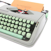 Back to school Hermes Baby typewriter good working condition minimal design lightweight portable office home decor writer writing