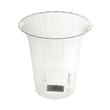 Clear Plastic Flared Cylinder Favor Container, 6-Inch