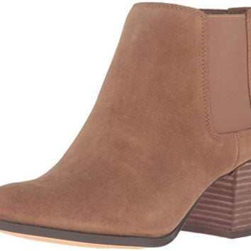 ANNE KLEIN WOMENS GEORDANNA SUEDE CHELSEA BOOT, MEDIUM NATURAL, 8 M US