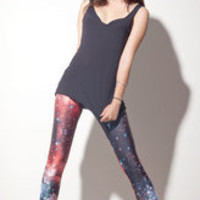 Red Galaxy Leggings