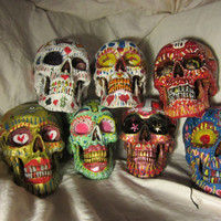 Hand painted Day of the Dead Skulls