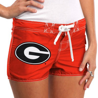 Georgia Bulldogs Womens Boardshorts - Red