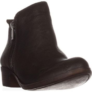 Lucky Brand Basel Side Zip Ankle Boots, Dark Moss, 5.5 US / 35.5 EU