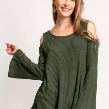Reach The Stars Cold Shoulder Top