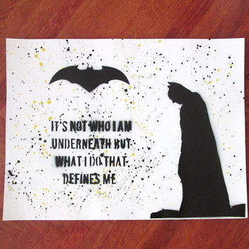 superhero wall art,batman poster,batman birthday,batman gifts,comics gift for him,batman painting,superhero poster,batman spray paint art