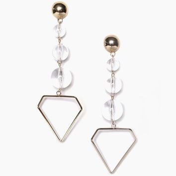 Lucite Ball Statement Earrings
