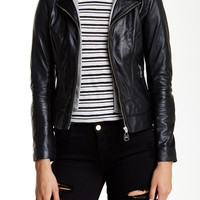 Baby Venice Hooded Leather Jacket