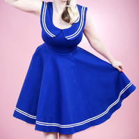 Blue & White Sailor Dress | zulily